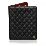 Authentic Rare Chanel Black GHW Caviar Leather iPad Case