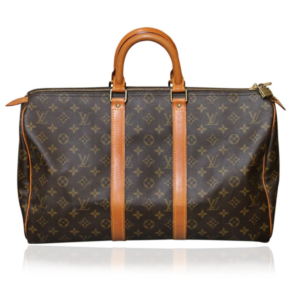 authentic vintage louis vuitton carryall keepall 45 handbag duffel bag. Black Bedroom Furniture Sets. Home Design Ideas