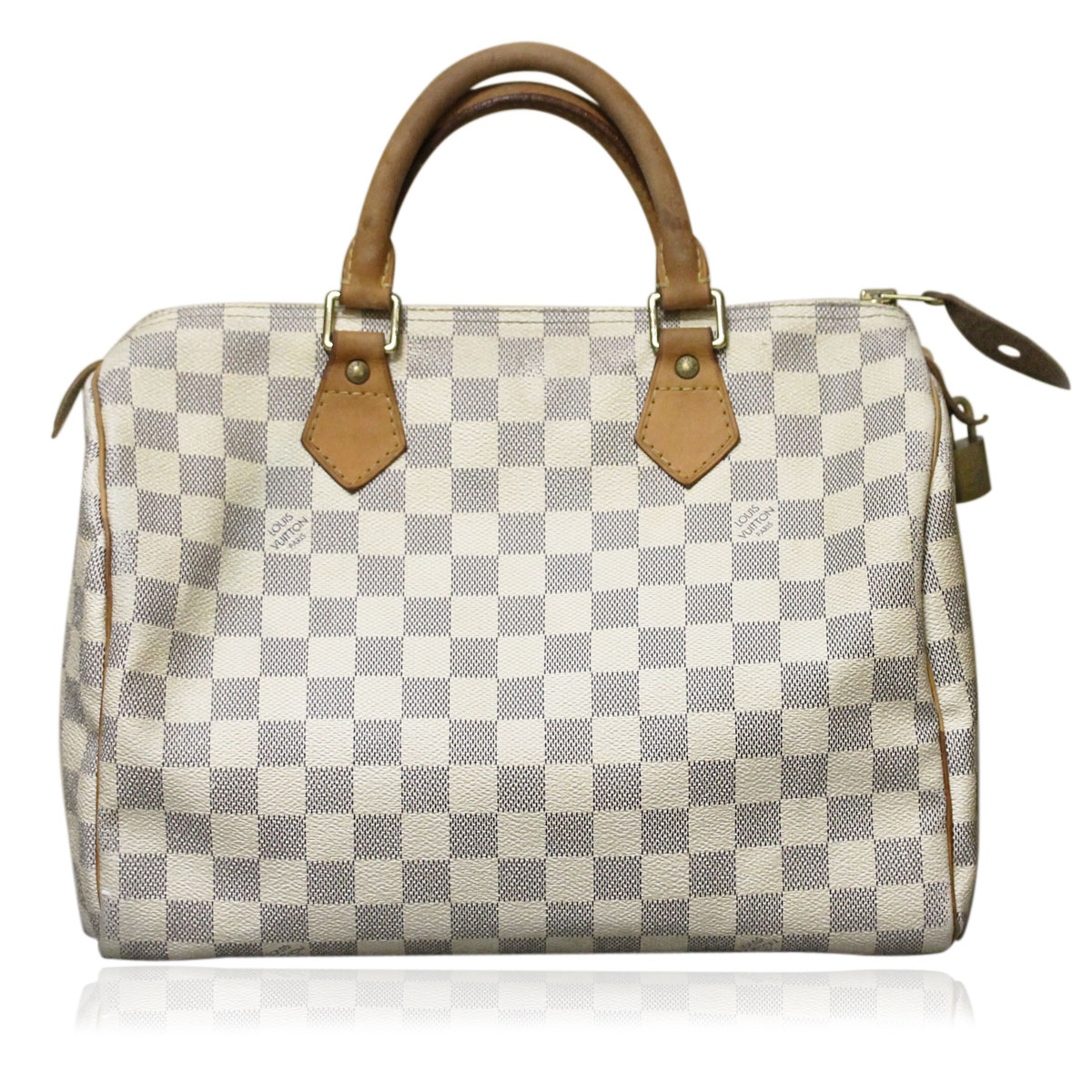 authentic louis vuitton damier azur speedy 30 handbag