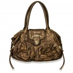 Botkier Small Bronze Leather Gold Hardware Handbag Purse