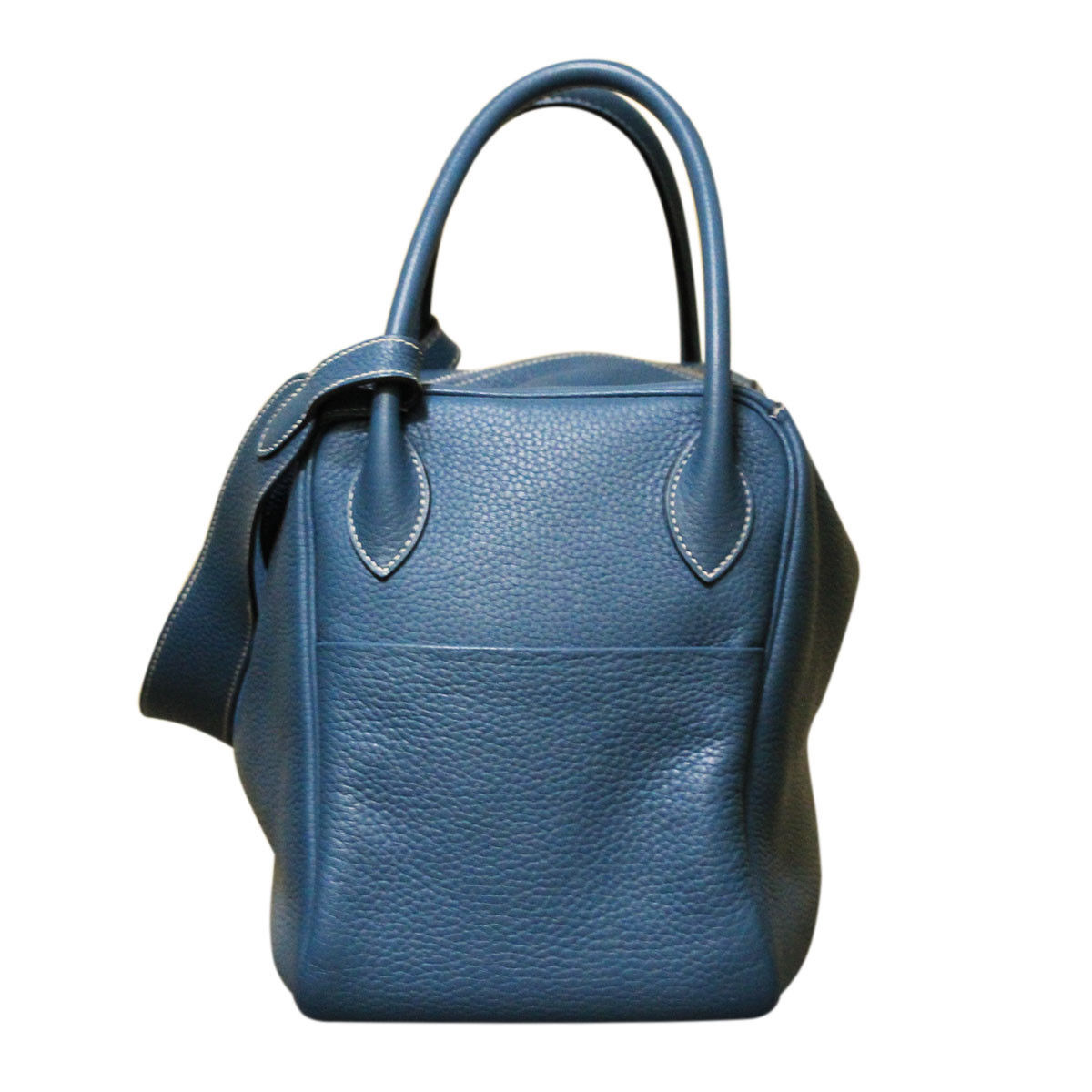 authentic hermes lindy 34 blue jean taurillon clemence