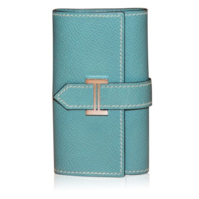 Hermes Bleu Jean 6 Key Case Bearn Leather