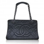 Chanel Black Caviar Leather Grand Shopper Tote SHW Bag