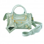 Balenciaga Jade Gold Mini City Shoulder Bag Crossbody Bag