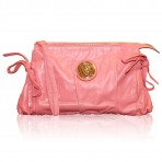 Authentic Gucci Pink Leather Hysteria Clutch