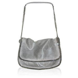 Stella McCartney Grey Falabella Shaggy Deer Messenger Bag