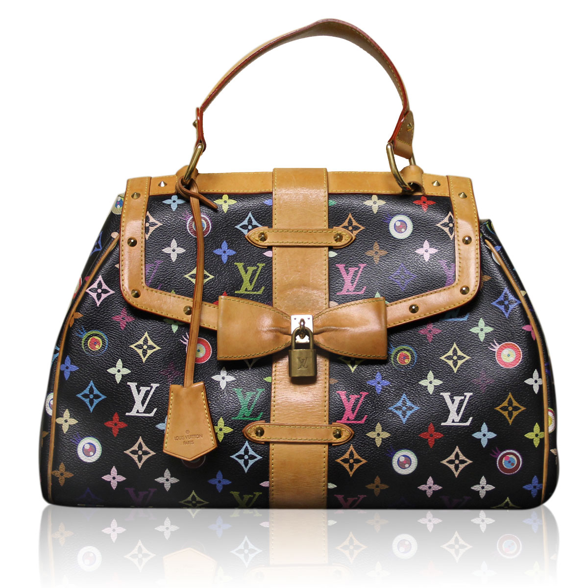 ... Louis Vuitton Eye Love You Black Multi Color Takashi Murakami Handbag  Purse. Sale! b81bfb3adf