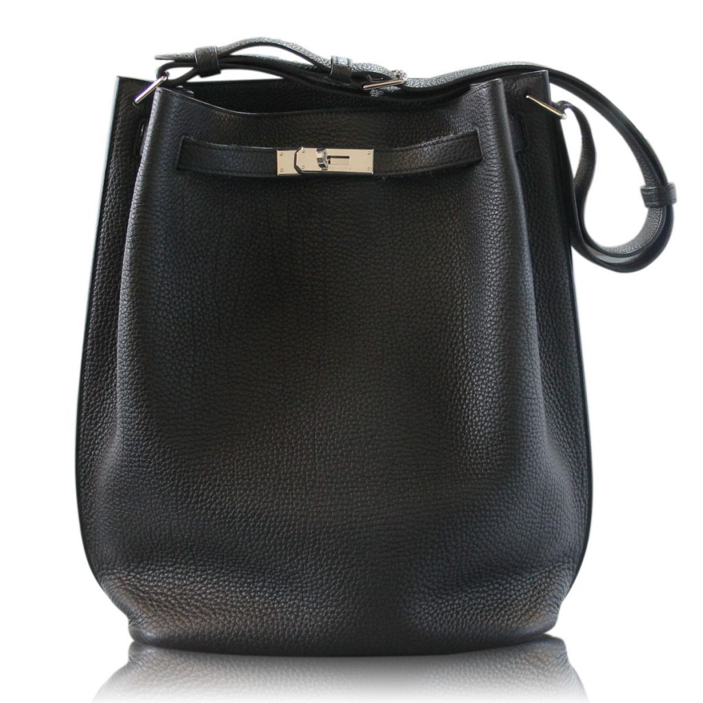 Hermes So Kelly 26 Black Leather Togo Shoulder Bag ...