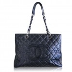Authentic Chanel Grand Shopper Tote Black Caviar Leather GST Bag
