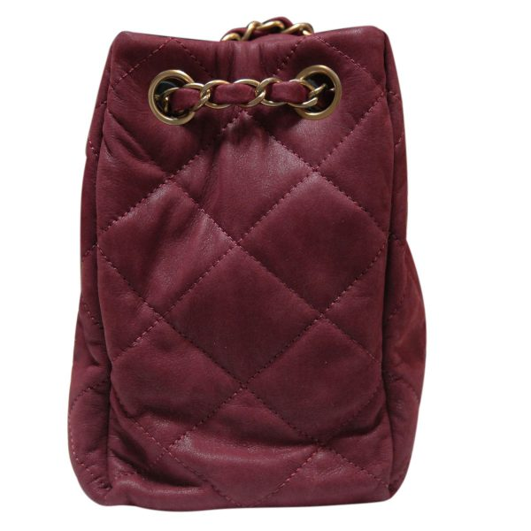 75577ca68a2a Authentic CHANEL Lambskin Sac Accordion Rouge GHW Shoulder Flap Bag Purse