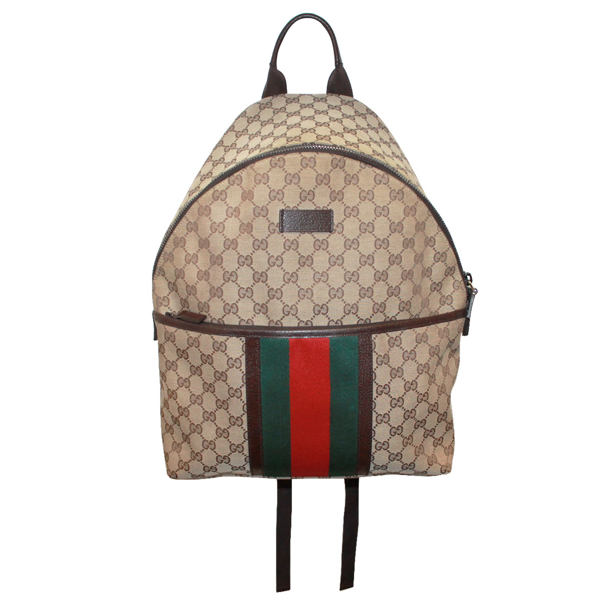 c824c322b0fc Gucci Monogram Supreme Canvas Zip Mens Backpack