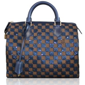 Louis Vuitton Sequins Speedy 30 Damier Pailletes Infini Ebene Handbag