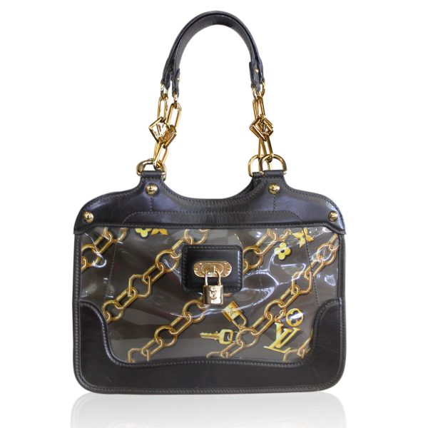 Louis Vuitton Limited Edition Taupe Charms Cabas Tote Bag