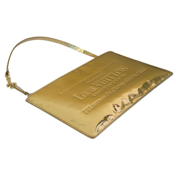 Louis vuitton limited edition gold miroir pochette clutch for Louis vuitton gold miroir