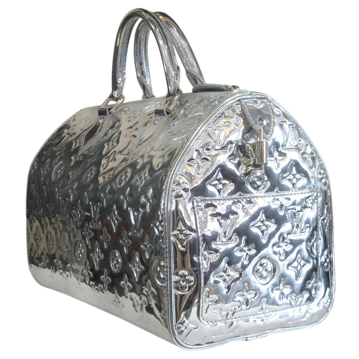 Louis vuitton speedy 30 silver monogram miroir handbag for Miroir louis vuitton