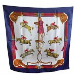Hermes 100% Silk Jumping Horses Scarf