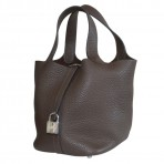 Hermes Picotin Lock PM Brown Clemence Leather Bag