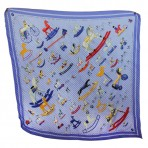 Hermes 100% Silk Pleated Rocking Horse Scarf