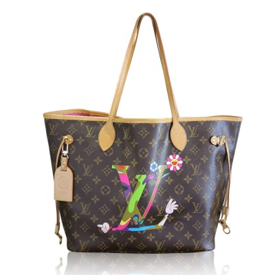 Louis Vuitton Rare Murakami Neverfull MM Limited Edition Tote