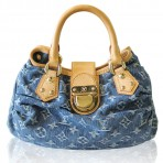 Louis Vuitton Denim Pleaty Monogram Handbag