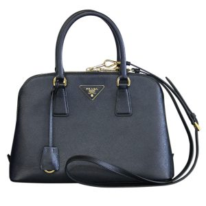 Prada Black Leather Saffiano Tote