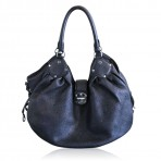 Louis Vuitton Mahina Large Black Leather Hobo Bag