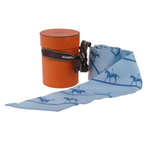 Hermes Jockey 100% Silk Twilly Scarf