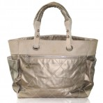 Chanel Gold Coated Canvas & Nylon Biarritz GM No. 11 Tote