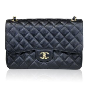 Chanel Jumbo Clack Caviar Double Flap