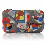Chanel Limited Edition Multicolor Nylon Quilted Shoulder Bag Purse No. 20
