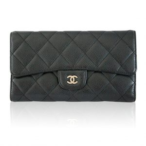 Chanel Black Caviar Flap Wallet Boca Raton