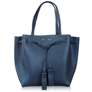 Celine Navy Blue Small Cabas Phantom Tote with Tassel