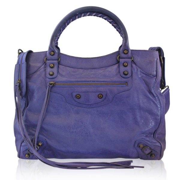 Balenciaga Arena Giant City Purple Handbag