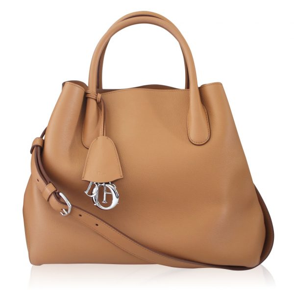 Christian Dior Open Bar Saddle Grained Leather SHW Tote Bag