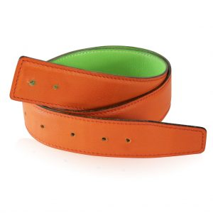 Hermes Orange and Green Leather Belt in Boca Raton