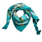 Hermes Silk Cashmere Multicolored Horse and Carriage Shawl Wrap