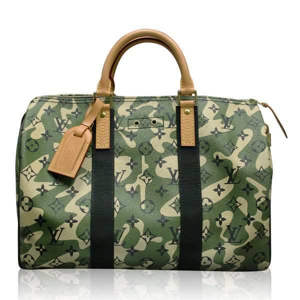 Louis Vuitto speedy 35 Camouflage Monogramouflage Bag