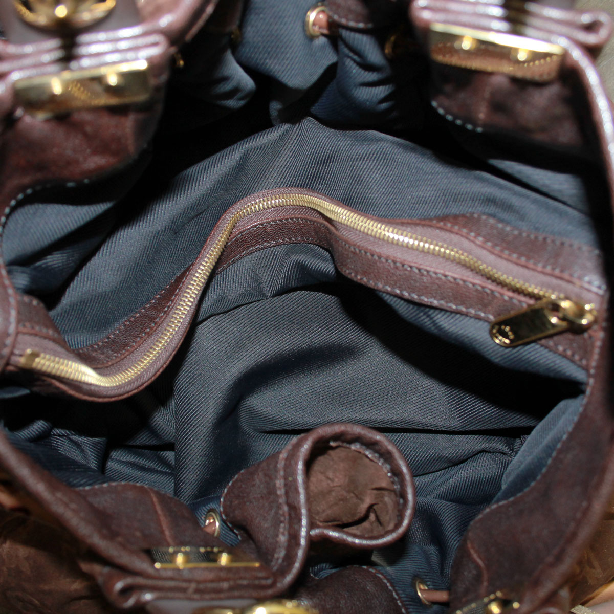 louis vuitton irene espresso suede patent leather limited edition tote. Black Bedroom Furniture Sets. Home Design Ideas
