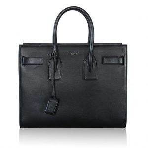 Saint Laurent Medium Black Leather Sac De Jour Boca Raton