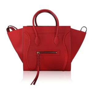 Celine Phantom Red Leather Limited Edition Luggage Tote Bag. out of stock   2 31bf6829a3186