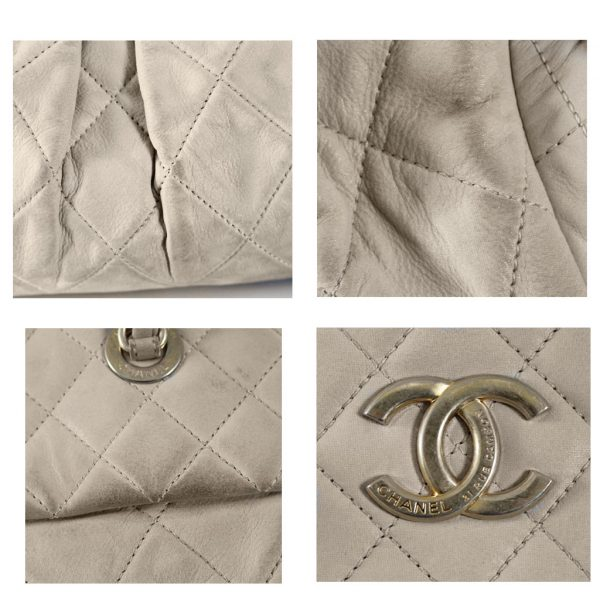 dff247b0fe89 Chanel Soft Lambskin Beige Shoulder Bag Tote with Pleats No. 15 in Box