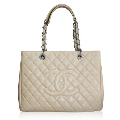 Chanel Beige Grand Shopping Tote GST in Dust Bag No. 19