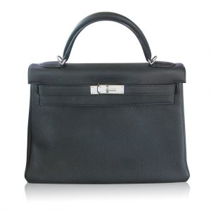 Hermes Kelly II Retourne 32 Veau Togo Black SHW Dust Bag