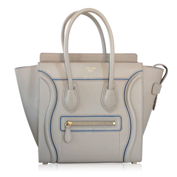 celine micro luggage light taupe handbag