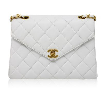 Chanel Vintage White Lambskin Mini Flap GHW Handbag No. 4