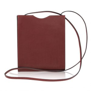 Hermes Sling Carmine Red Leather Cross Body Bag