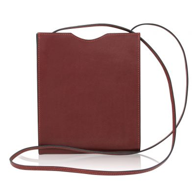 Hermes Sling Crossbody Carmine Red Colored Messenger Bag