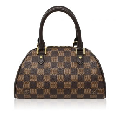 Louis Vuitton Ribera PM Damier Ebene Handbag in Dust Bag