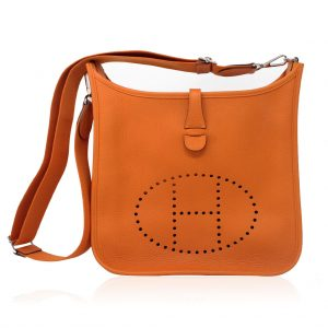 Hermes Evelyne III Orange Clemence Leather
