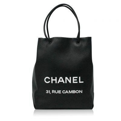 Chanel Petit 31 Rue Cambon Black Leather Runway Tote Bag in Box No. 12